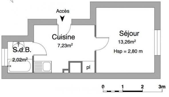Logement étudiant Studio à Sartrouville (78500)