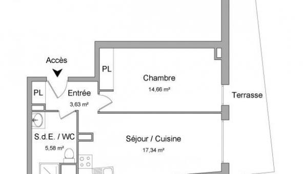 Logement étudiant T2 à Cannes (06400)